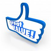 Great Value Thumbs Up Sign Symbol Recommendation
