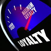 stock photo of higher power  - Loyalty Gauge Measure Loyal Customer Referral - JPG