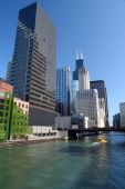 Downtown Chicago at sunny day IL USA