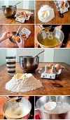 pic of cake-mixer  - Set of photo related with baking cake process - JPG