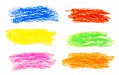 Wax Crayon Hand Drawing Background