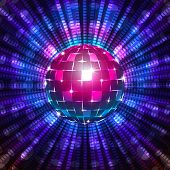 stock photo of fluorescent  - An illustration of a fluorescent disco ball - JPG