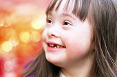 pic of disability  - Portrait of the beautiful young happy girl - JPG