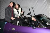 LOS ANGELES - DEC 1:  Ace Young, Diana DeGarmo at the 2013 Hollywood Christmas Parade at Hollywood &