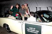 LOS ANGELES - DEC 1:  Kate Linder, Bryton James, Melissa Orday at the 2013 Hollywood Christmas Parade at Hollywood & Highland on December 1, 2013 in Los Angeles, CA