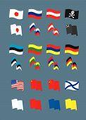 Set mit vielen verschiedenen Flaggen