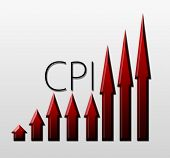 stock photo of macroeconomics  - Chart Illustrating Cpi Growth - JPG
