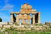 picture of ceres  - ancient roman temple of Ceres at Paestum Italy - JPG