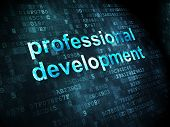Education concept: Professional Development on digital