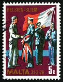 Postage Stamp Malta 1977 Changing Of Colors