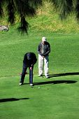 Two golfers, Andalusia.