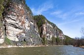 pic of ural mountains  - Beautiful Ural nature on the river Inzer South Ural region Russia - JPG