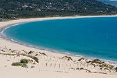foto of tarifa  - Beautiful view on beach and ocean Spain Tarifa - JPG