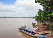 Boats On The Irrawaddy River
