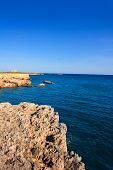 tabarca island alicante mediterranean blue sea in spain