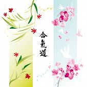 Decorative banners with japanese theme