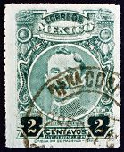 Postage Stamp Mexico 1917 Ildefonso Valentin Vazquez, General