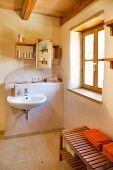 clay courtyard bathroom