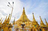 Shwedagon Paya In Yangon ,myanmar