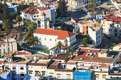 Aerial view of chefchaouen city