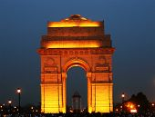 India Gate in New Delhi, India (commemoration of the 90,000 soldiers of the British Indian Army who