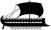 Phoenician ship silhouette