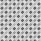 Design Seamless Monochrome Geometric Pointed Pattern