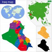 Map of administrative divisions of Iraq