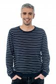 Cheerful Young Casual Man Posing