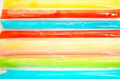 Close-up Of Frozen Ice Pops