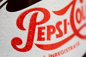 330ml Retro Pepsi Bottle Close Up