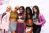 LOS ANGELES - MAY 10:  Lauren Bennett, Paula Van Oppen, Emmalyn Estrada, Simone Battle, Natasha Slayton, G.R.L. at the 2014 Wango Tango at Stub Hub Center on May 10, 2014 in Carson, CA