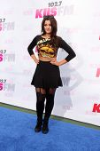 LOS ANGELES - MAY 10:  Bebe Rexha at the 2014 Wango Tango at Stub Hub Center on May 10, 2014 in Cars