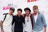 LOS ANGELES - MAY 10:  Lewi Morgan, Charley Bagnall, Jake Roche, Danny Wilkin, Rixton at the 2014 Wango Tango at Stub Hub Center on May 10, 2014 in Carson, CA