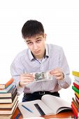 Student With Russian Currency