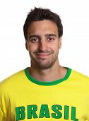 Portrait Of An Attractive Guy With Brazilian Jersey