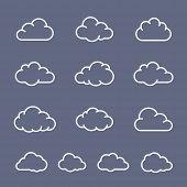 Cloud shape collection. Cloud vector icons