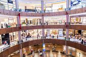 Interior View Of Dubai Mall - World's Largest Shopping Mall