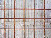 Rusty metal grate