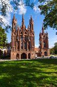 Catholic church of St. Anne in Vilnius, Lithuania