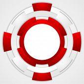 Vibrant corporate tech circles background. Vector design