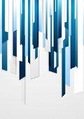 Bright corporate blue striped design. Vector background