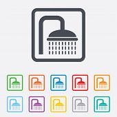 foto of douche  - Shower sign icon - JPG