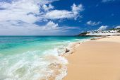 Beautiful Cupecoy beach on Sint Maarten Caribbean