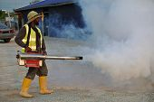 Mosquito fogging at construction site