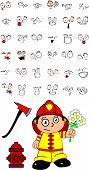 firefighter kid cartoon set6