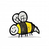 stock photo of bumble bee  - bumble bee doodle - JPG