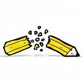 cartoon snapped pencil
