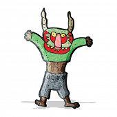 cartoon man in spooky mask