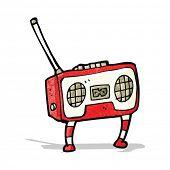 radio cassette player cartoon